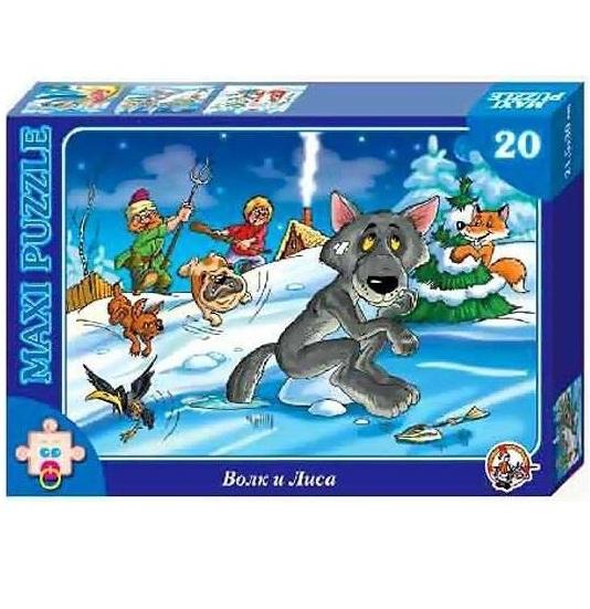 картинка Пазл макси «Волк и лиса», 20 элементов от магазина Bebikam.ru