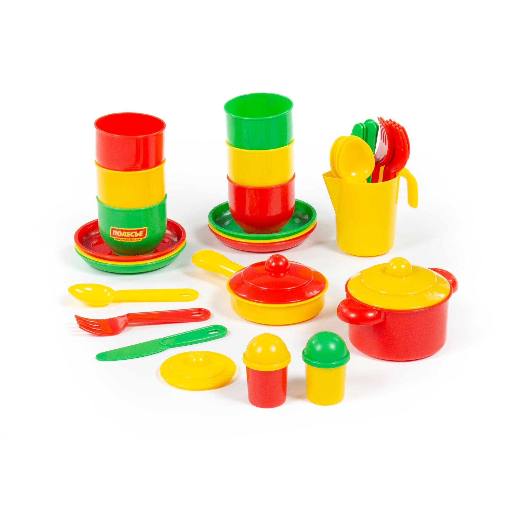 Купить Набор детской посуды – Хозяюшка, на 6 персон, Полесье