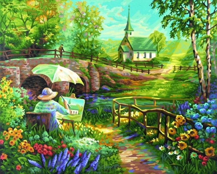 Раскраска картина ЛетоРаскраски по номерам Schipper<br>Раскраска картина Лето<br>