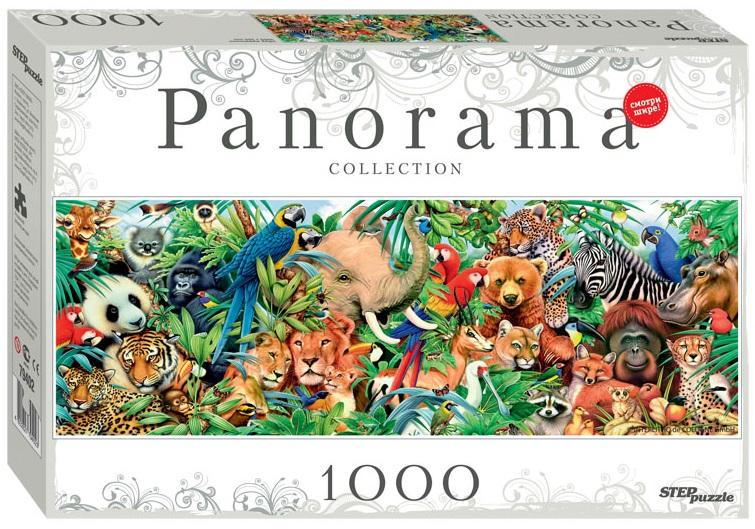 Пазл Panorama Мир животных, 1000 элементовПазлы 1000 элементов<br>Пазл Panorama Мир животных, 1000 элементов<br>
