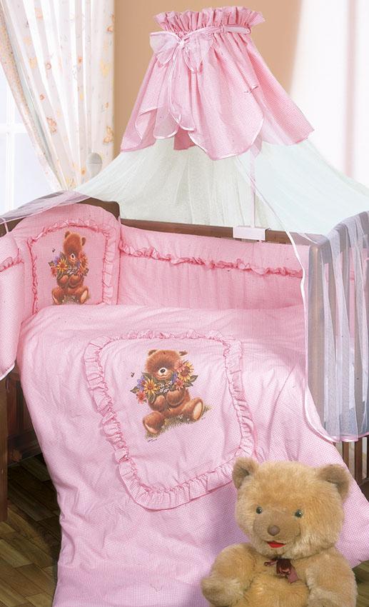 Постельное белье Аленка, 3 предмета, цвет – розовыйДетское постельное белье<br>Постельное белье Аленка, 3 предмета, цвет – розовый<br>