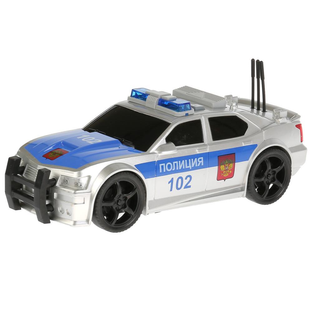 Купить Машина свет и звук Седан Полиция, инерционная, открывается багажник, 19 см, Технопарк