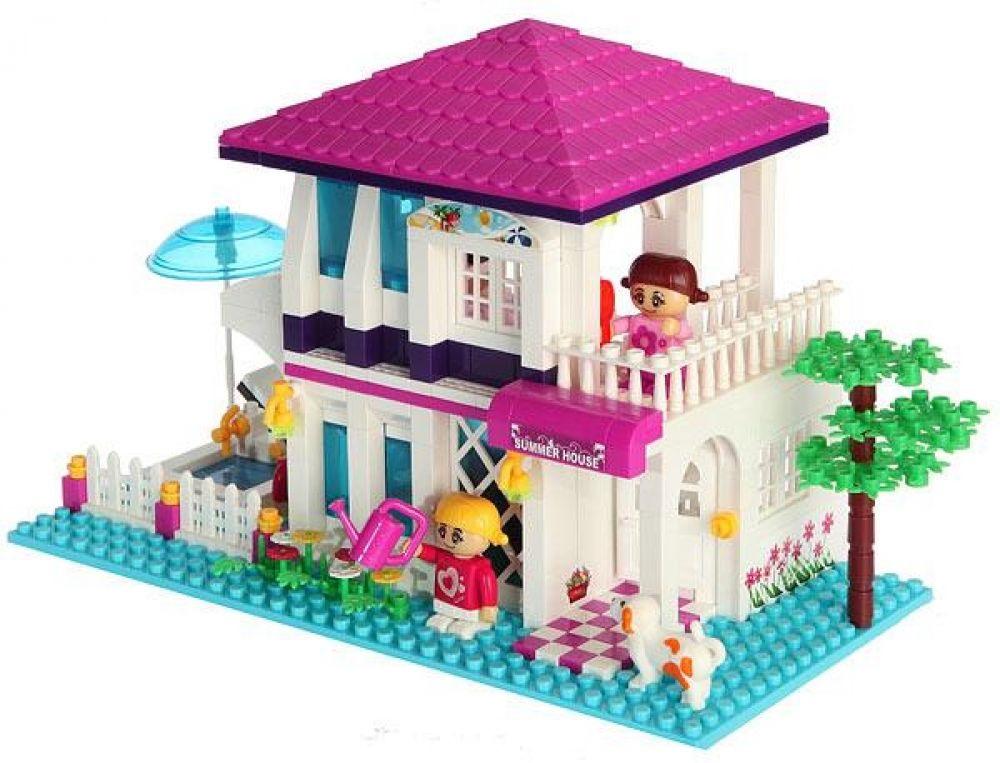 Игровой конструктор - Летний дом, с аксессуарамиКонструкторы BANBAO<br>Игровой конструктор - Летний дом, с аксессуарами<br>