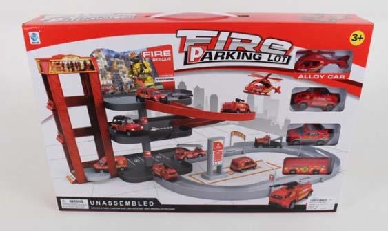 Купить Игровой набор Fire parking lot – Парковка: пожарная станция с машинками и аксессуарами 5599-80A