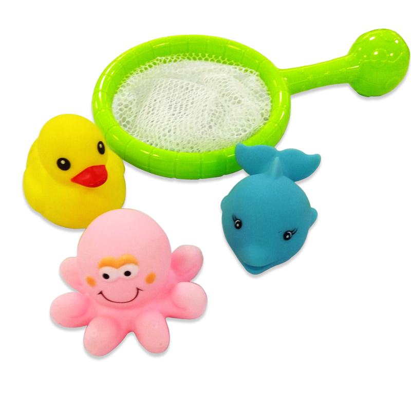 Сачок с 3-мя животными для ванной, 2 вида – Веселое купание фото