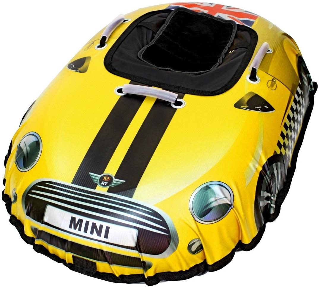 Санки надувные Тюбинг Snow auto Mini Cooper, цвет желтыйВатрушки и ледянки<br>Санки надувные Тюбинг Snow auto Mini Cooper, цвет желтый<br>