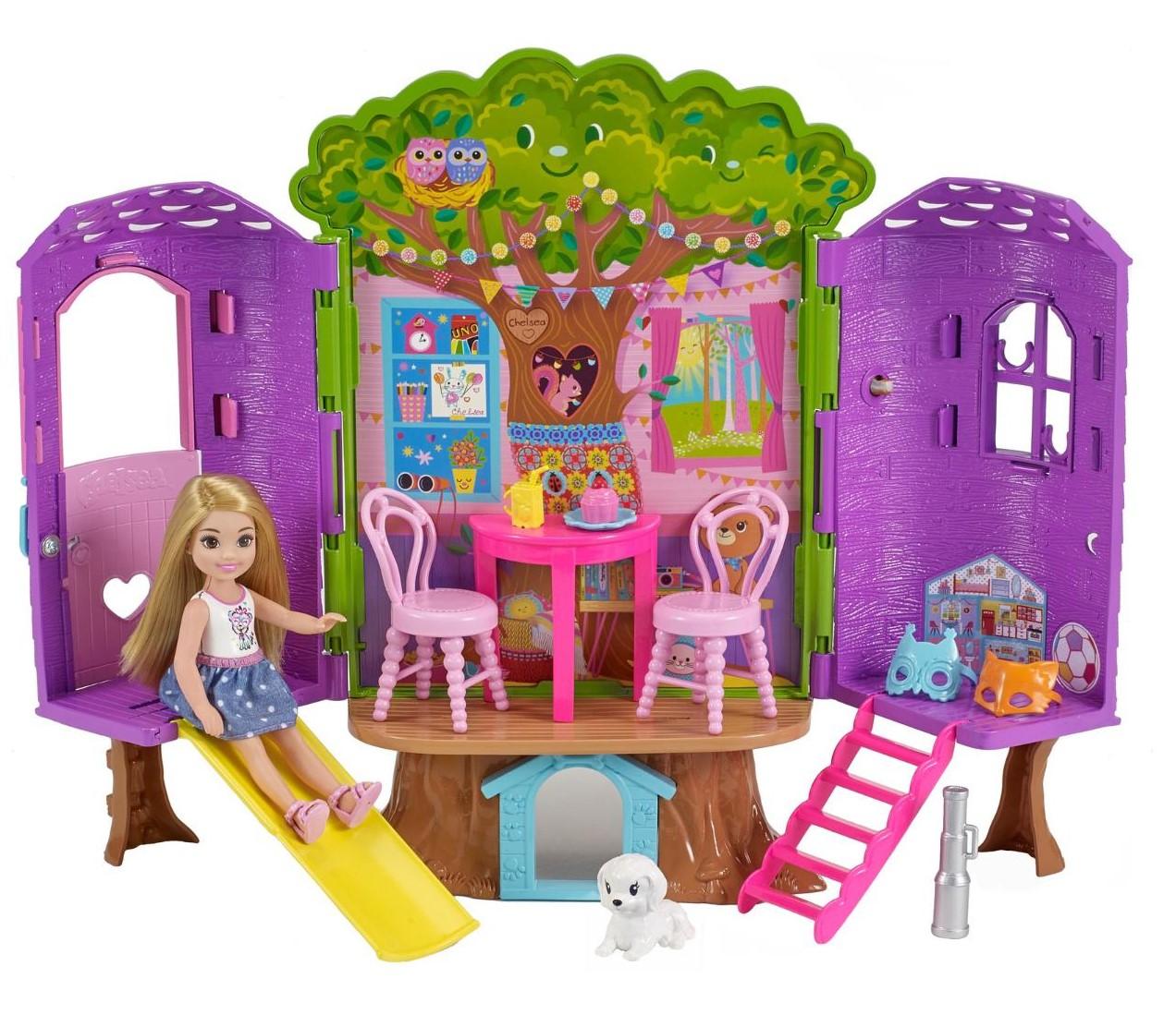 Купить Игровой набор – Домик на дереве с куклой Челси. Barbie, Mattel