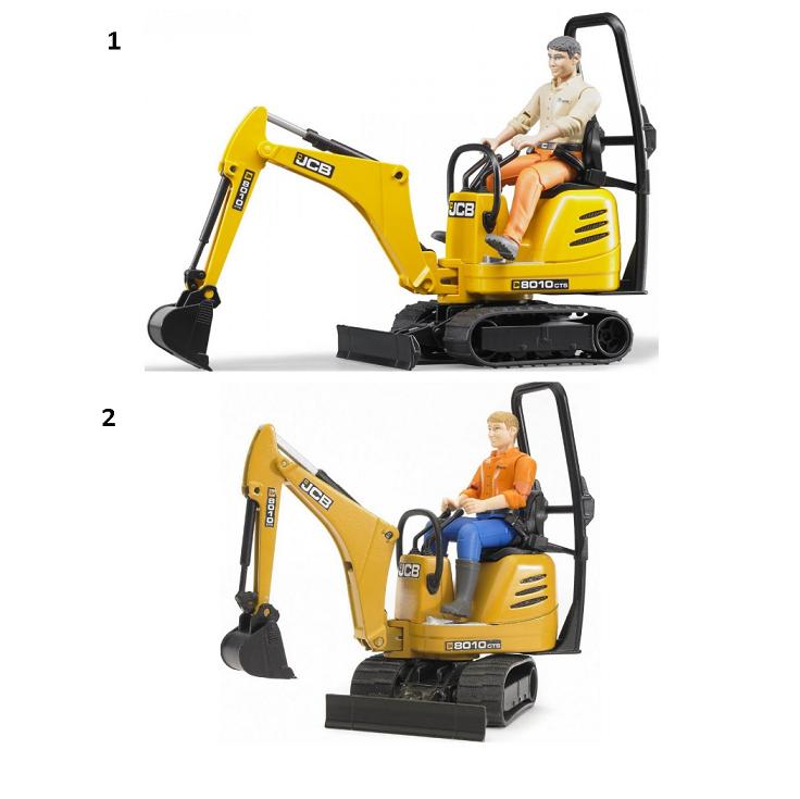 Мини экскаватор JCB 8010 CTS и рабочий от Toyway