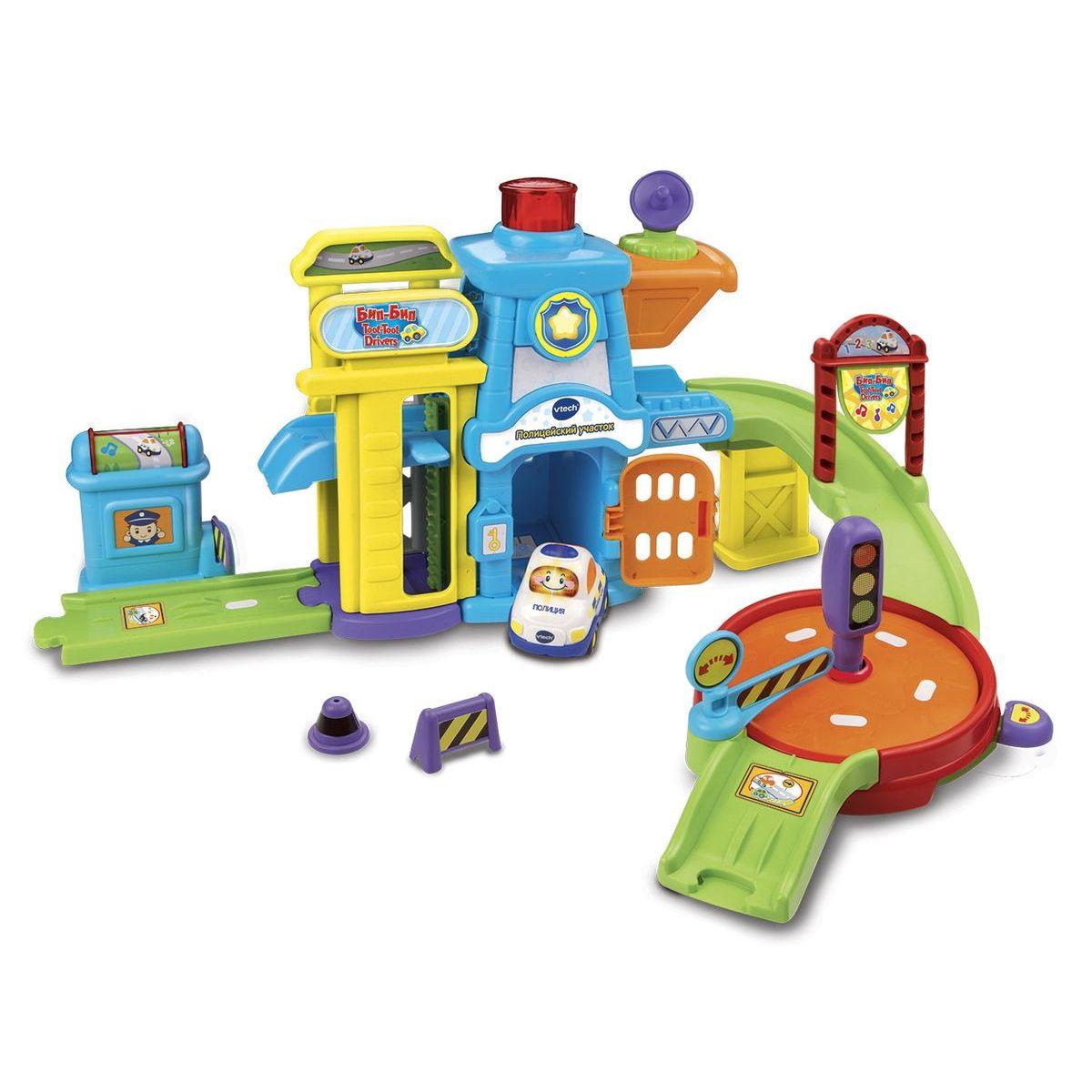 Игровой набор Бип-Бип Toot-Toot Drivers - Полицейский участок, звук по цене 4 315