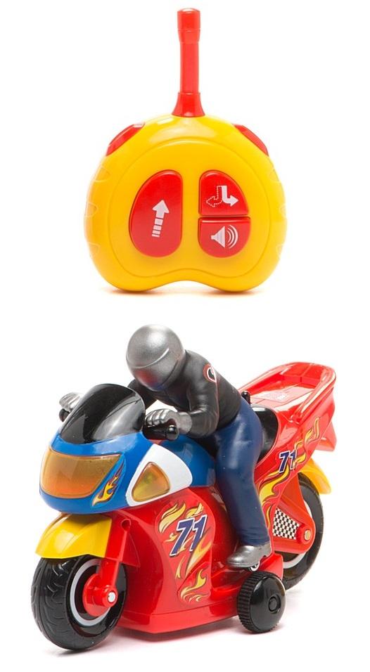 Развивающая игрушка «Гонщик» с пультом управления Kiddieland, KID 051342Мотоциклы, квадроциклы<br>Развивающая игрушка «Гонщик» с пультом управления Kiddieland, KID 051342<br>