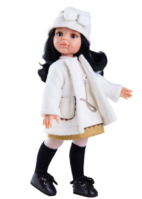 Кукла Карина в белом пальто, 32 см.Испанские куклы Paola Reina (Паола Рейна)<br>Кукла Карина в белом пальто, 32 см.<br>