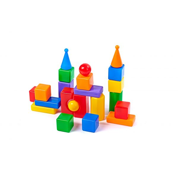 Купить Строительный набор - Стена-2, 22 элемента, Пластмасса-Детство