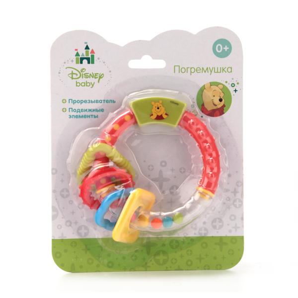 Погремушка Disney Винни-Пух кольцоДетские погремушки и подвесные игрушки на кроватку<br>Погремушка Disney Винни-Пух кольцо<br>