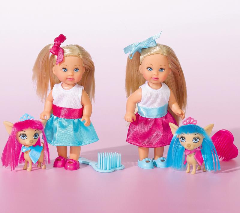Кукла - Еви со стильной собачкой, 12 смКуклы Еви<br>Кукла - Еви со стильной собачкой, 12 см<br>