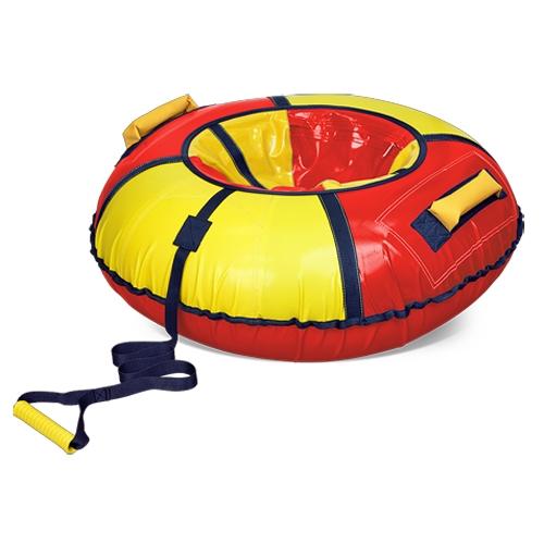 Тюбинг диаметром 95 см, цвет -  красный/желтыйВатрушки и ледянки<br>Тюбинг диаметром 95 см, цвет -  красный/желтый<br>