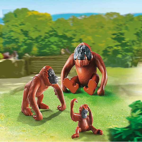 Набор из 3 фигурок - Зоопарк: Семья ОрангутанговФерма<br>Набор из 3 фигурок - Зоопарк: Семья Орангутангов<br>
