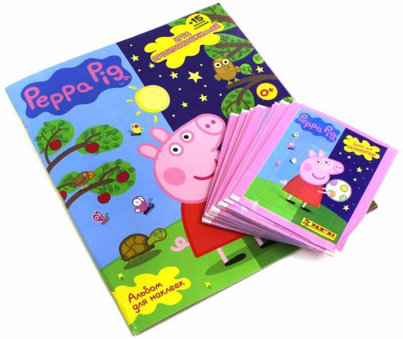 Набор коллекционера Свинка Пеппа - Игра противоположностейНаклейки<br>Набор коллекционера Свинка Пеппа - Игра противоположностей<br>