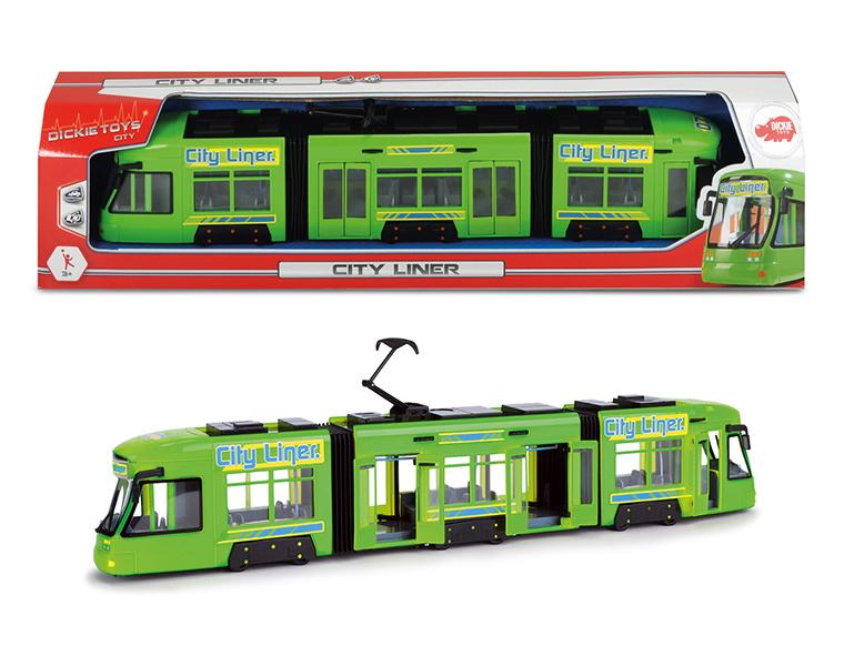 Городской трамвай, 46 см., зеленый