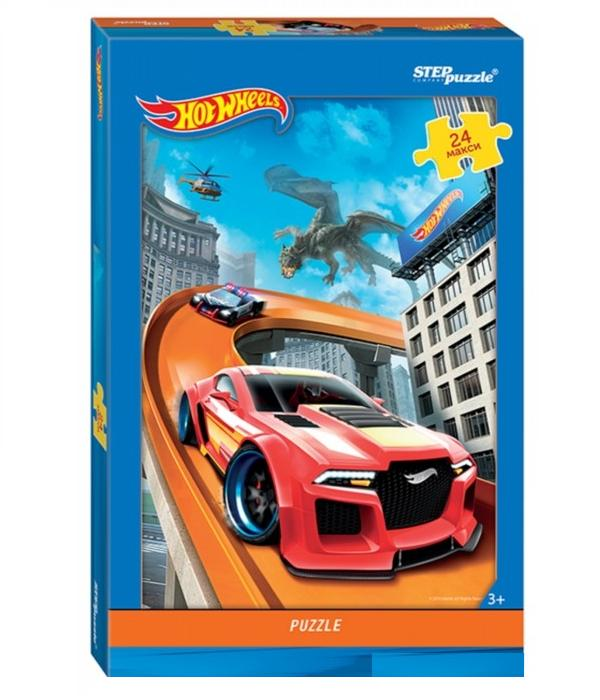 Пазл Макси - Hot Wheels, 24 деталиПазлы до 100 элементов<br>Пазл Макси - Hot Wheels, 24 детали<br>