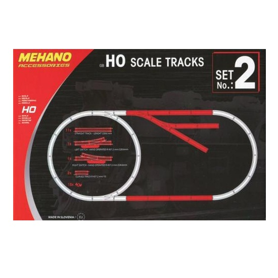 Купить Mehano Дополнительный набор рельс Развязка для железной дороги Mehano