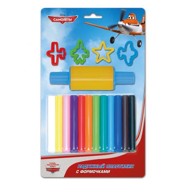 Пластилин «Самолеты Дисней», 12 цветов с формочкамиНаборы для лепки<br>Пластилин «Самолеты Дисней», 12 цветов с формочками<br>