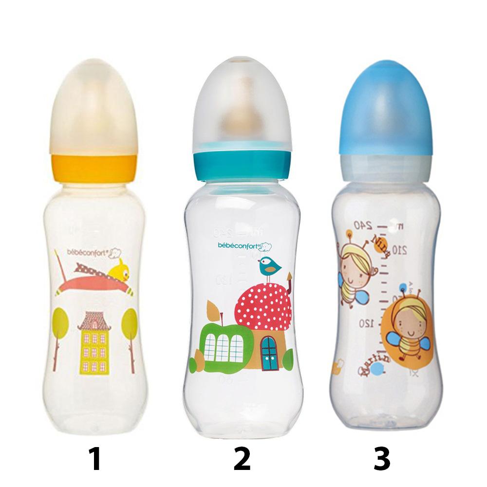 Пластиковая бутылочка для кормления - Classic, 240 млТовары для кормления<br>Пластиковая бутылочка для кормления - Classic, 240 мл<br>