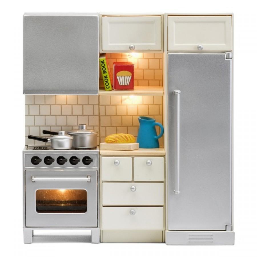 Набор мебели для домика из серии Смоланд - Кухня с холодильником и плитойКукольные домики<br>Набор мебели для домика из серии Смоланд - Кухня с холодильником и плитой<br>