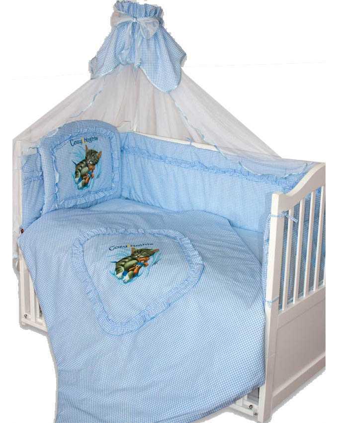 Комплект – Аленка, голубойДетское постельное белье<br>Комплект – Аленка, голубой<br>