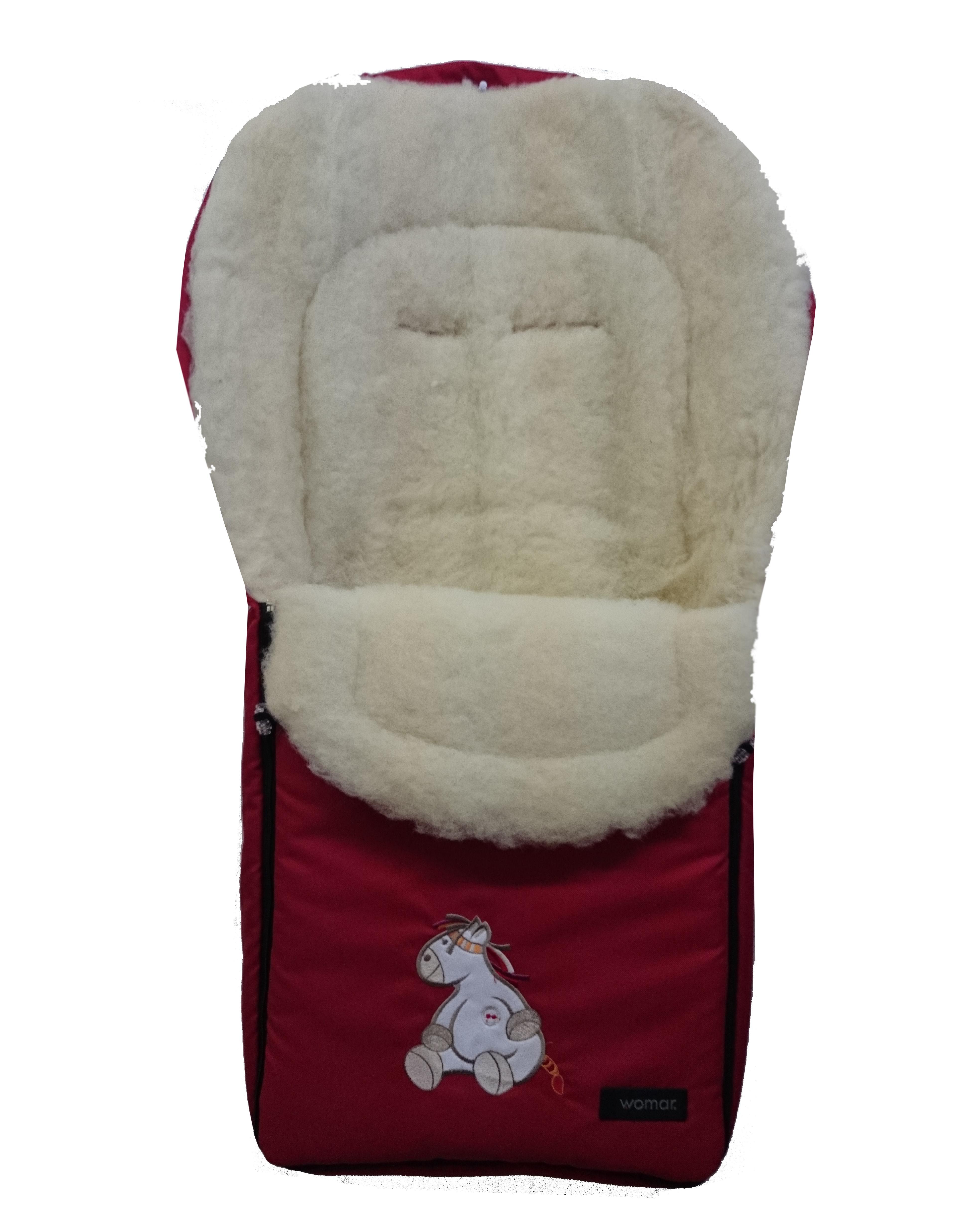 Спальный мешок в коляску №07 - North pole, бордовый