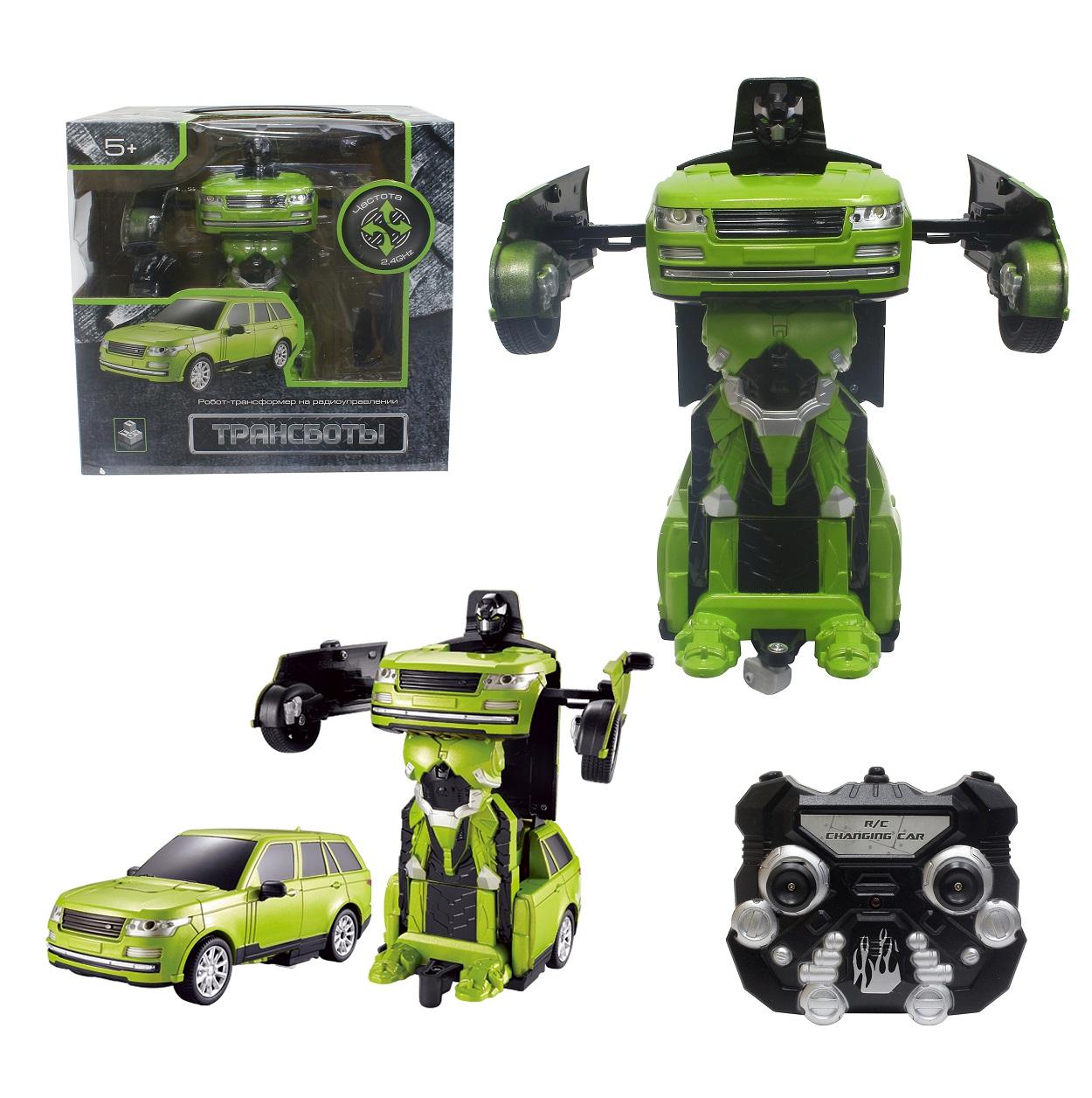 Робот на р/у 2,4GHz, трансформирующийся в джип, зеленый