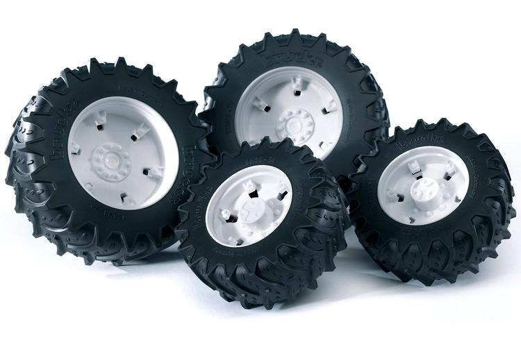 Bruder. Шины для системы сдвоенных колес с белыми дискамиАксессуары<br>Bruder. Шины для системы сдвоенных колес с белыми дисками<br>