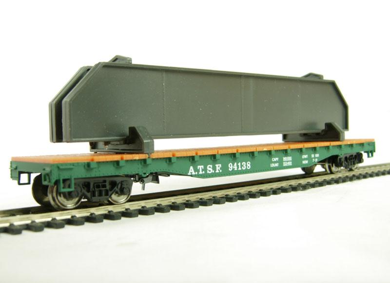 Вагон-платформа из серии Mehano Hobby для перевозки съемных контейнеров ATSДетская железная дорога<br>Вагон-платформа из серии Mehano Hobby для перевозки съемных контейнеров ATS<br>