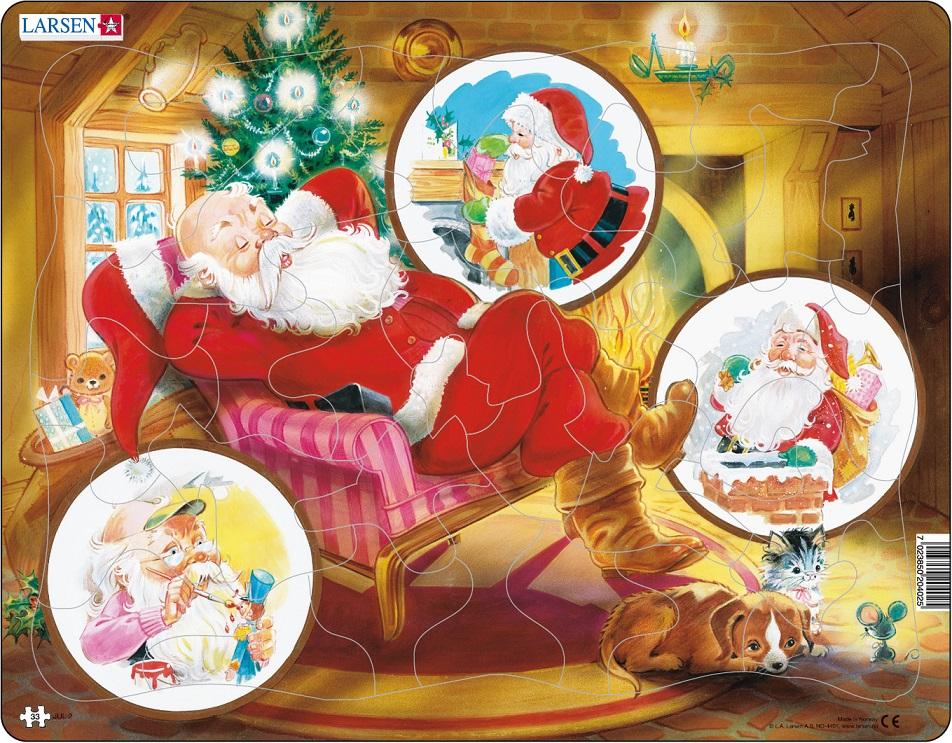 Купить Пазл - Санта Клаус, 33 элемента, Larsen