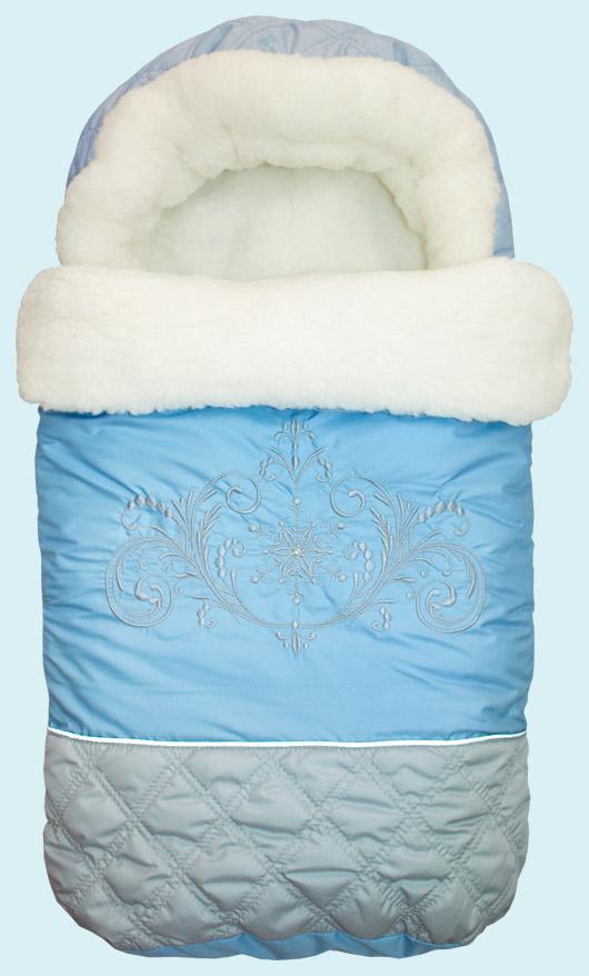 Конверт меховой Метелица, голубойЗимние конверты<br>Конверт меховой Метелица, голубой<br>