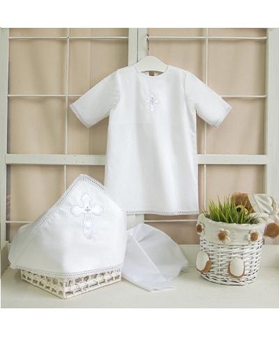 Крестильный набор для мальчика – Алексей, 2 предмета, 0-3 месяца