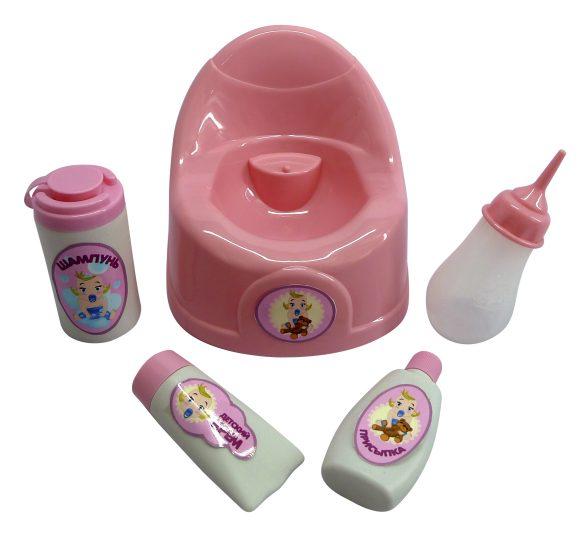 Горшок для кукол с аксессуарамиНаборы для кормления и купания пупса<br>Горшок для кукол с аксессуарами<br>