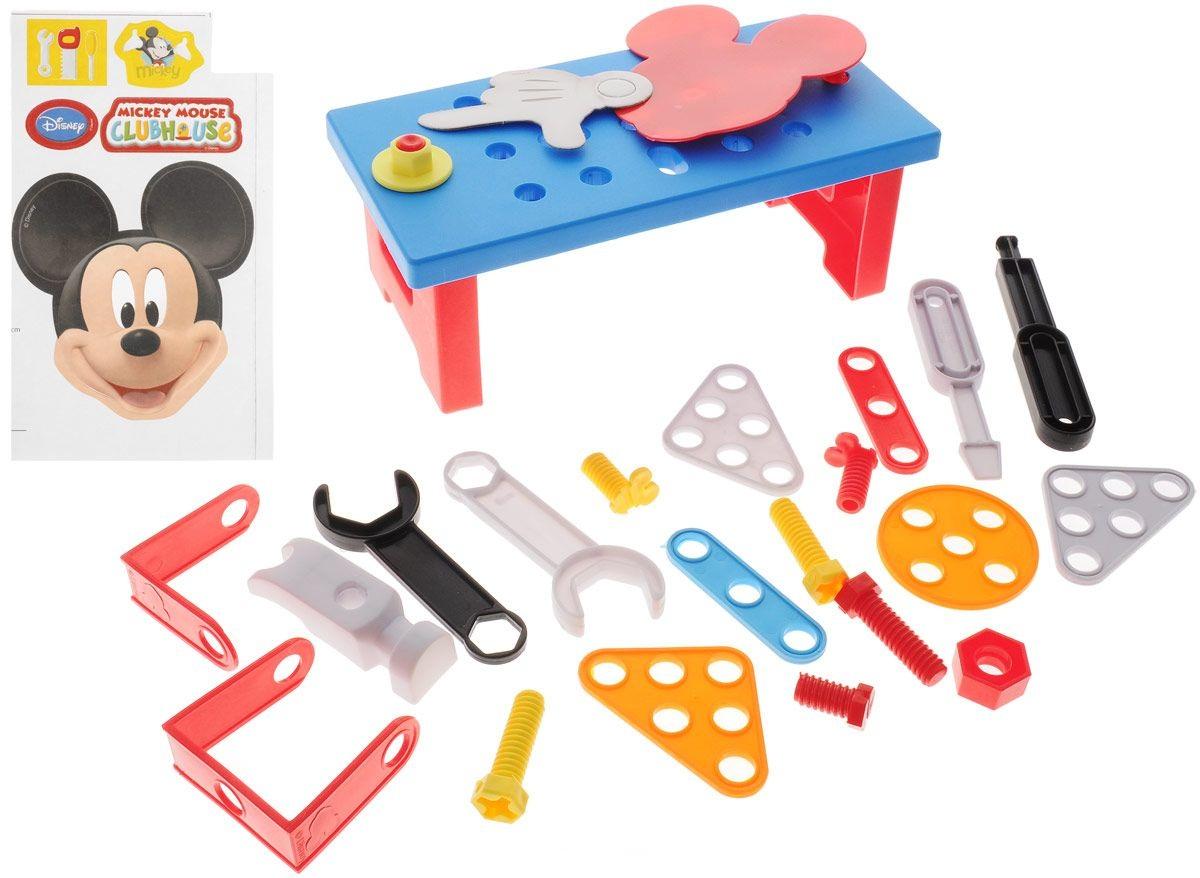 Игровой набор инструментов с тележкой - Микки МаусДетские мастерские, инструменты<br>Игровой набор инструментов с тележкой - Микки Маус<br>