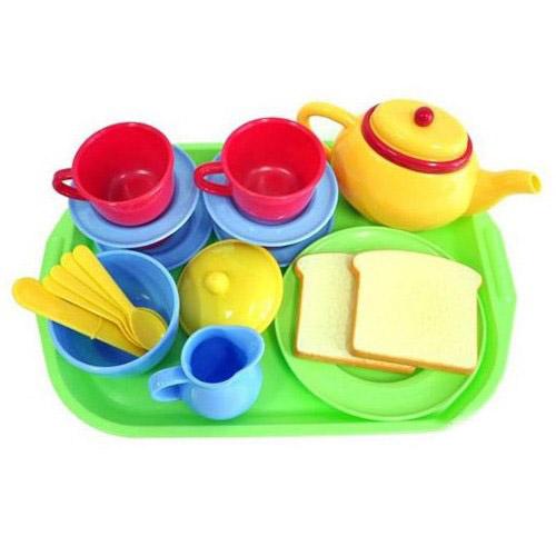 Игровой набор для чая, 20 предметовАксессуары и техника для детской кухни<br>Игровой набор для чая, 20 предметов<br>