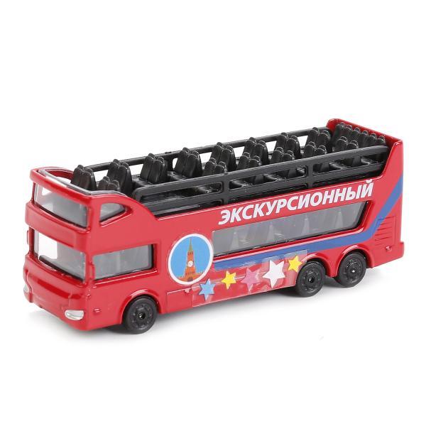 Металлический экскурсионный автобус, 7,5 смАвтобусы, трамваи<br>Металлический экскурсионный автобус, 7,5 см<br>