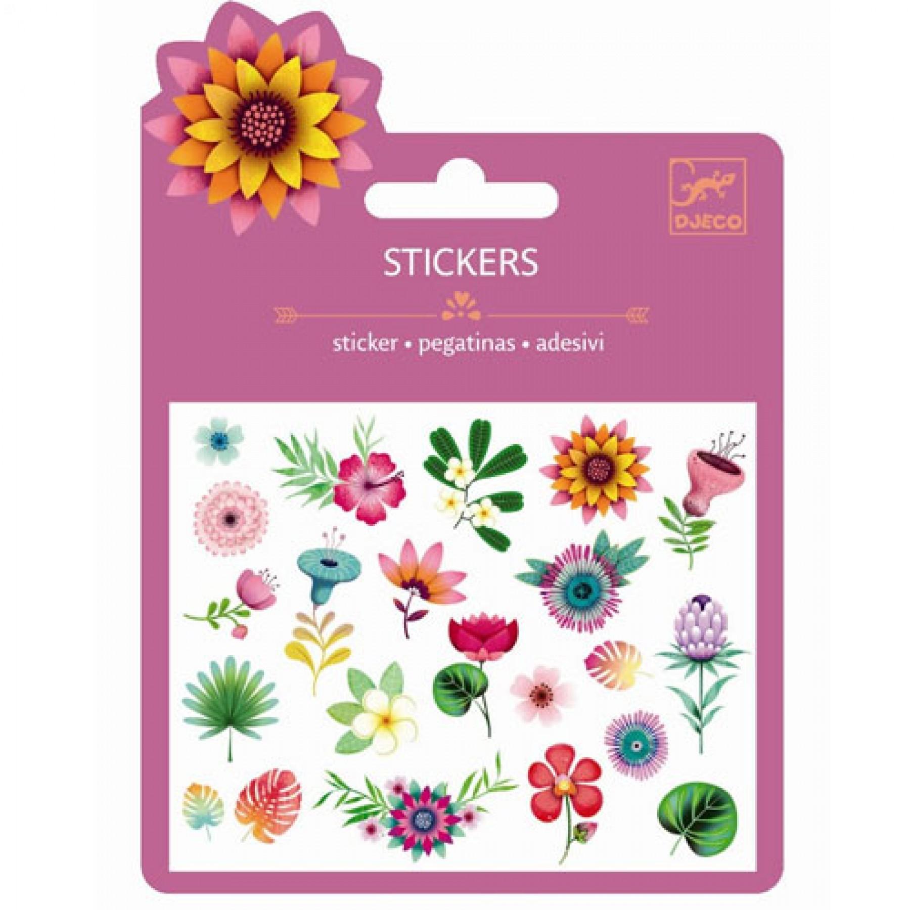 картинка Наклейки - Тропические цветы от магазина Bebikam.ru