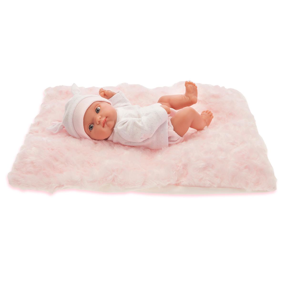 Кукла Пепита на розовом одеяле, 21 см.Куклы Антонио Хуан (Antonio Juan Munecas)<br>Кукла Пепита на розовом одеяле, 21 см.<br>