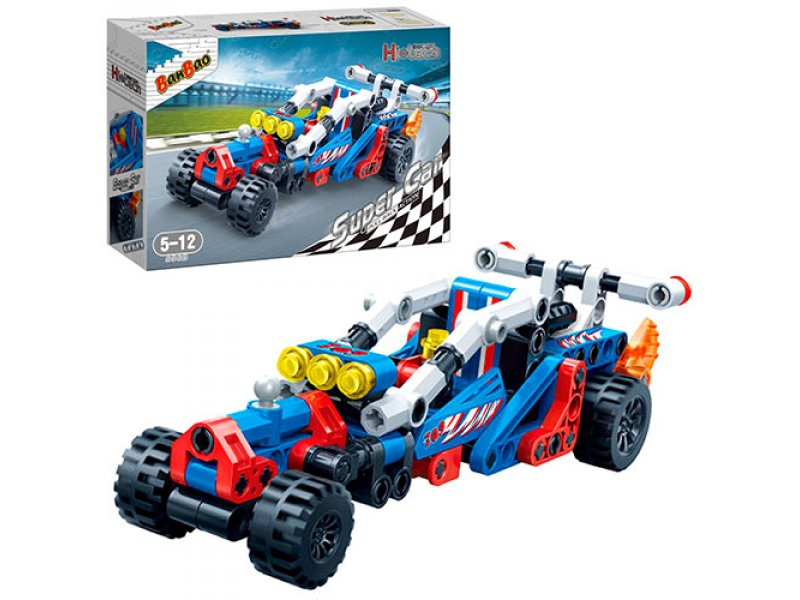 Конструктор - Гоночная машина, 148 деталейКонструкторы BANBAO<br>Конструктор - Гоночная машина, 148 деталей<br>