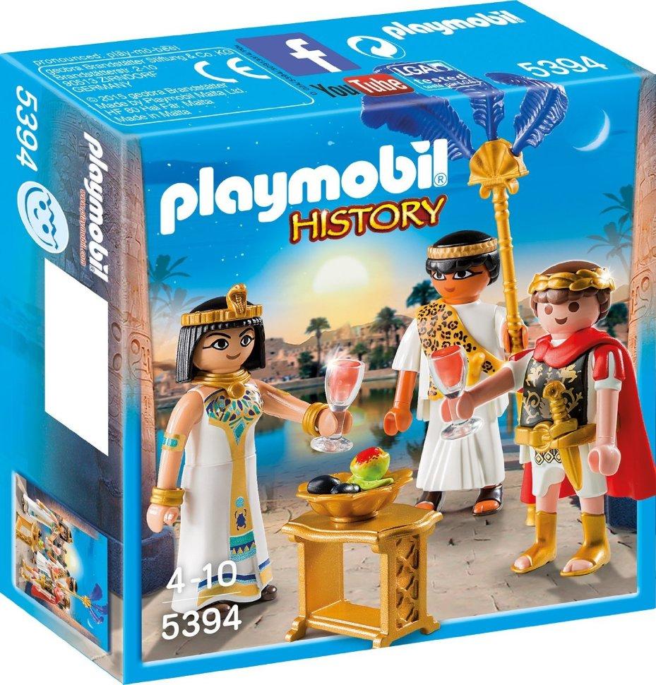 Игровой набор из серии Римляне и Египтяне: Цезарь и Клеопатра, с аксессуарами, Playmobil  - купить со скидкой