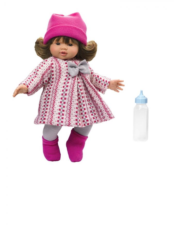 Кукла Эмма в розовом пальто, 36 см.Куклы ASI (Испания)<br>Кукла Эмма в розовом пальто, 36 см.<br>