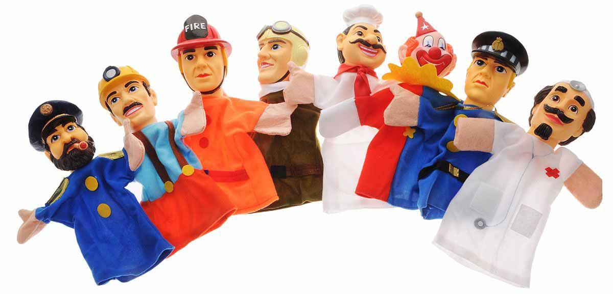 Кукольный театр – Профессии, 8 куколДетский кукольный театр <br>Кукольный театр – Профессии, 8 кукол<br>
