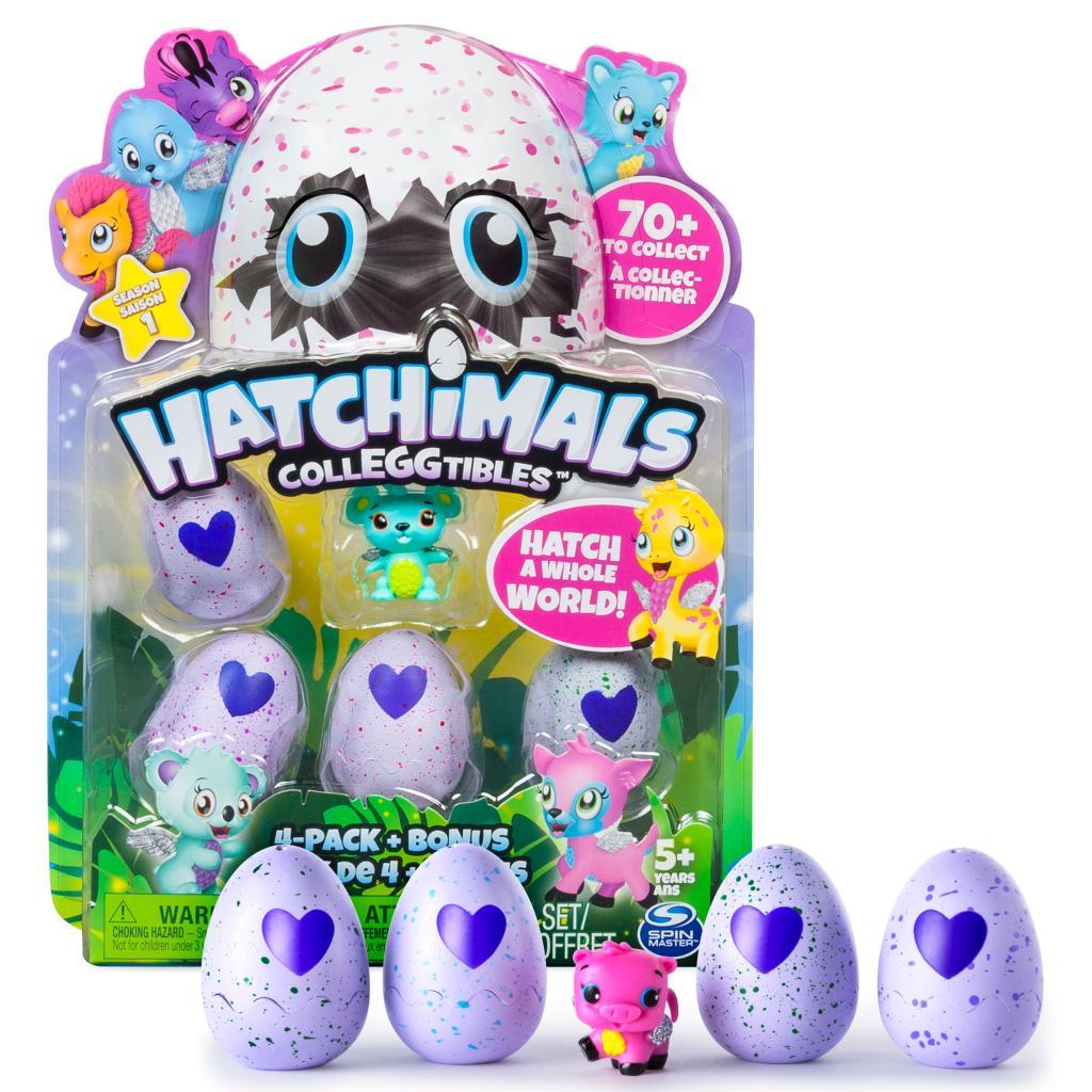 Купить Коллекционная фигурка Hatchimals, 4 штуки и бонус, Spin Master