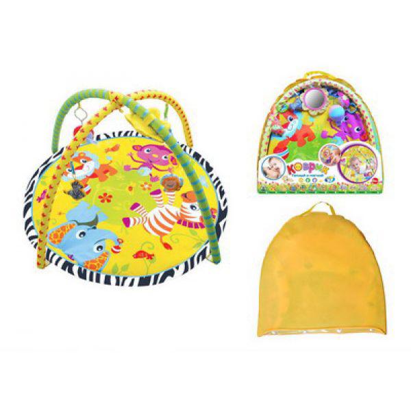 Детский игровой коврик с игрушками в сумкеДетские развивающие коврики для новорожденных<br>Детский игровой коврик с игрушками в сумке<br>