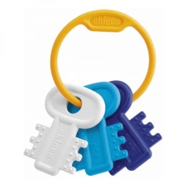 Погремушка-прорезыватель «Ключи на кольце», голубаяДетские погремушки и подвесные игрушки на кроватку<br>Погремушка-прорезыватель «Ключи на кольце», голубая<br>