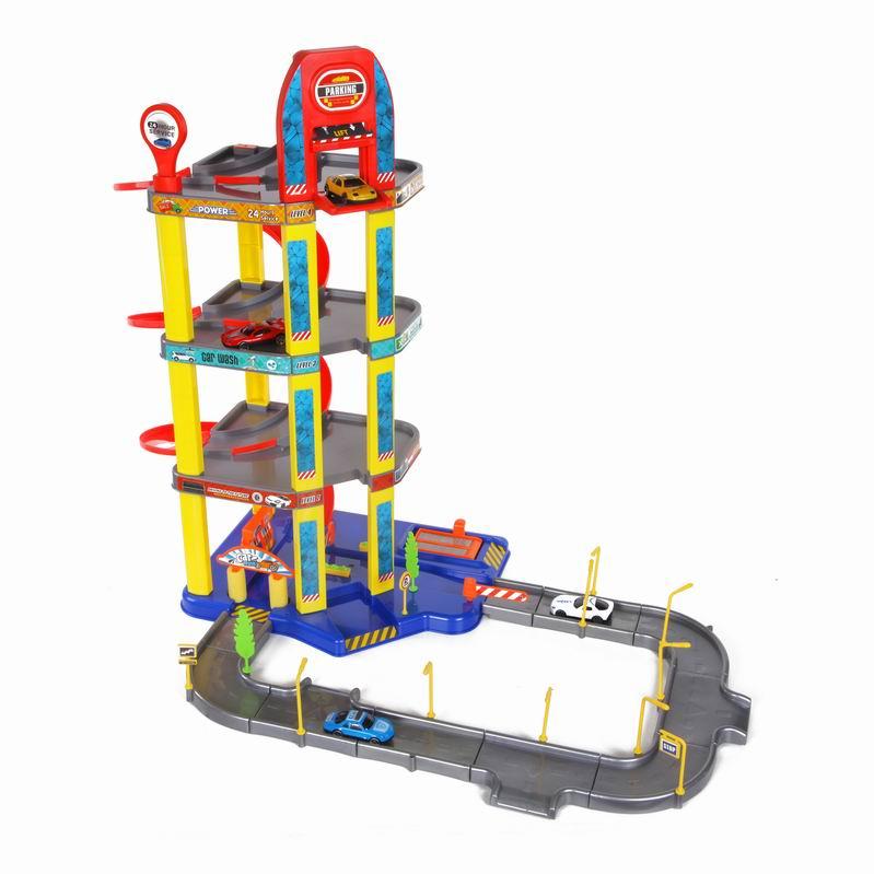 Игровой набор – Четырехуровневый гараж с машинкамиДетские парковки и гаражи<br>Игровой набор – Четырехуровневый гараж с машинками<br>