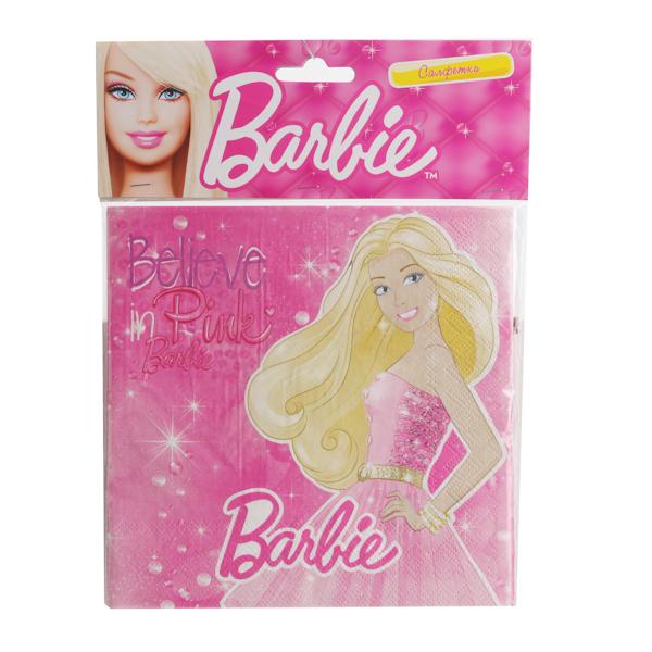 Набор из 12-и салфеток - BarbieBarbie (Барби)<br>Набор из 12-и салфеток - Barbie<br>